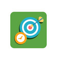 target flat icon vector image vector image