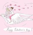 valentine bird riders vector image vector image