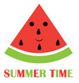 watermelon fun summer background vector image vector image