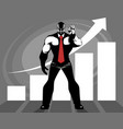 successful business growth vector image