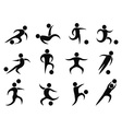 abstract soccer players icons vector image