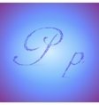 Letters P with Polygonal Pattern vector image