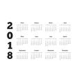 Simple calendar on 2018 year in spanish language vector image