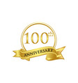 100th anniversary celebration logo vector image vector image