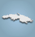 3d isometric map saint thomas is an island in vector image vector image