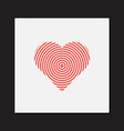 abstract heart symbol vector image vector image