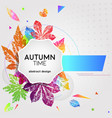 abstract light card autumn time with leaf prints vector image vector image