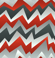 abstract red zigzag seamless pattern with grunge vector image vector image