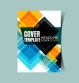 abstract report cover 12 vector image vector image