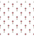 baby rattle pattern seamless vector image vector image