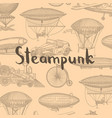 background with steampunk hand drawn vector image vector image