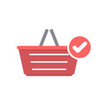 basket buy check shop shopping icon vector image vector image