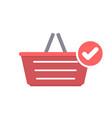basket buy check shop shopping icon vector image