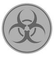 biohazard silver coin vector image vector image