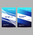 brochure template layout design abstract blue and vector image vector image