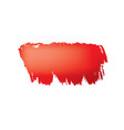 brush stroke of red paint on white background vector image vector image