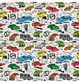 cars - seamless background vector image