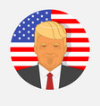character portrait donald trump on american vector image
