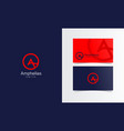 circle line a logo mark with business card vector image vector image