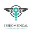 circular health symbol logo design vector image vector image