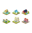 city buildings set urban landscape esign elements vector image vector image