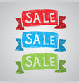 colorful creative sale poster vector image vector image