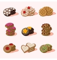 Cookies of Cartoon Food Icons vector image vector image