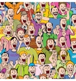 Crowd Cheering Seamless vector image