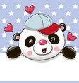 cute cartoon drawing panda vector image vector image