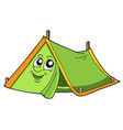 cute tent vector image
