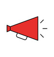 director megaphone isolated icon vector image vector image