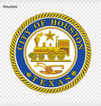 emblem of houston vector image vector image