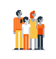Family members standing together parents children vector image vector image