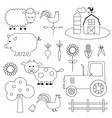 farm digital stamps vector image