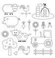 farm digital stamps vector image vector image
