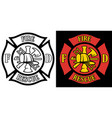 firefighter rescue maltese florian cross vector image