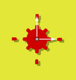 Flat icon design collection gear and watches in