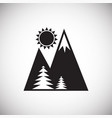 forest with mountains icon on white background for vector image