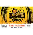 halloween pumpkin poster horror night party vector image vector image