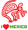 I Love Mexico Template Design