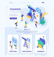 isometric concept success in business teamwork vector image