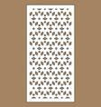laser pattern decorative panels for vector image vector image