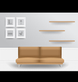 Living room interior concept vector image vector image