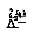 loading goods black icon sign on isolated vector image vector image