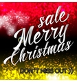 merry christmas sale lettering bright banner vector image vector image