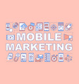 mobile marketing word concepts banner digital vector image vector image
