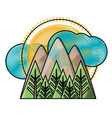 mountains landscape icon image vector image vector image