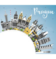 prague czech republic city skyline with color vector image vector image