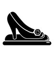 princess shoes icon simple black style vector image