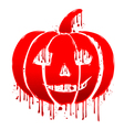Pumpkin blood vector image vector image